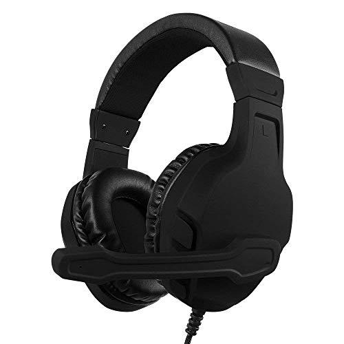 DEjh Stereo-Mikrofon-Subwoofer-Headset für NUBWO U3 Xbox One PS4 Rot/Schwarz (Farbe : SCHWARZ)