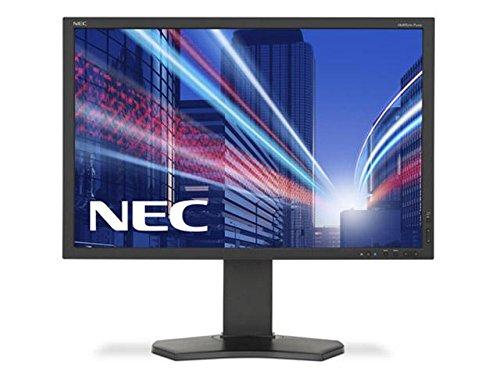 NEC P212 21. 3 INCH Monitor IPS panel 1600x1200 VGA DVI-D DisplayPort HDMI DUC 14-bit LUT 150mm height adjustable Black
