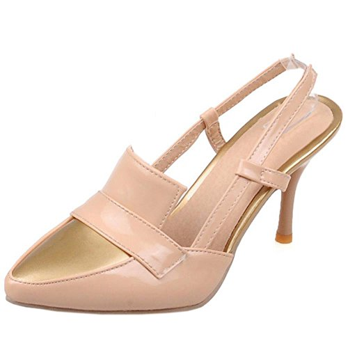 COOLCEPT Mode-Event Damen Stiletto Sandalen Slingback Fashion Party Shoes Plus Sizes Apricot