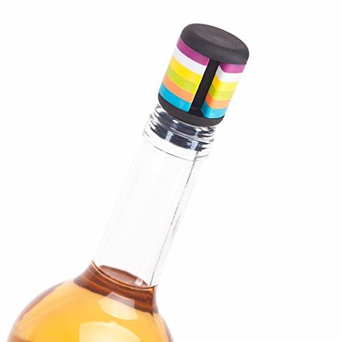 Bachelorette Gläser Shot (Flaschenverschluss & Charm Set–Wine Saver mit 6Glas-Marker zu unterscheiden zwischen Gläser–einfach zu verwenden robustem Gummi Kork für kein Verschütten –, Speichern Wein für Another Day & Get Abnehmbare Drink)