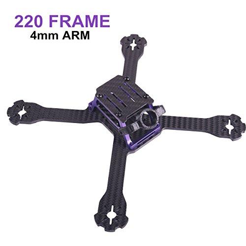 Hawks 220mm RC Drone FPV Racing Frame Kit Carbon Fiber 4mm Arm for Brushless Motor 2204 2205 2206 (2206 Motor)