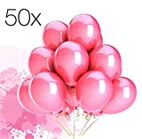 TK Gruppe Timo Klingler 50x Luftballons Ballons Luftballon für Luft und Helium Pink / Fuchsia für Dekoration Deko an Hochzeit, Geburtstag, Party, Partydekoration Hochzeitsdeko, Mädchen UVM.