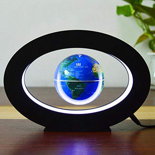 VIWIV Magnético Levitación Globo Creativo Hogar Decoración De Alta Tecnología Regalos De Negocios Oval 3 Pulgadas De Potencia De Ca 12V 1000Ma,Blue