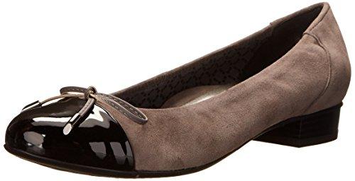 Ara Bria Daim Chaussure Plate Grey-Black