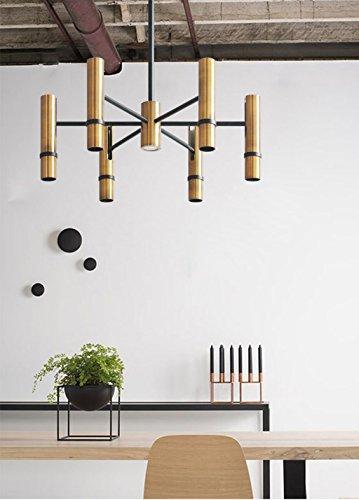 Illuminazione lampadario cilindrico/oro/soggiorno camera da letto/lampadario luci interne (colore : 6 heads)