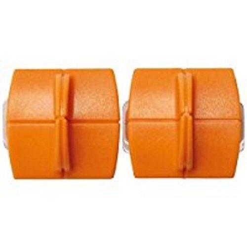 Original Fiskars Ersatzklingen für Papierschneidemaschinen, 2 Stück, Für gerade Schnitte, High Profile TripleTrack Titanium, Orange, 1004677 -