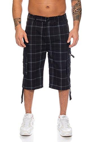 Herren Freizeitshorts Kurze Hose Bermuda Cargo (XL, Schwarz (330)) (Walkshorts Shorts)