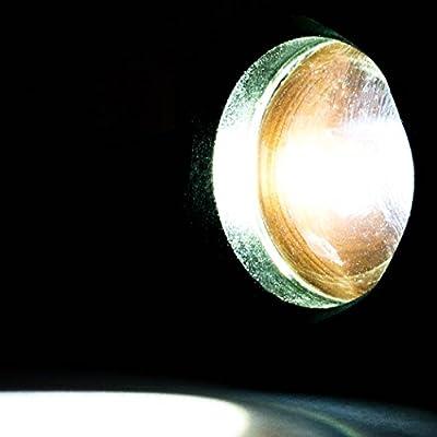 SEBSON® LED Taschenlampe, dimmbar, 2 Blinkmodi, hell 650lm, schwarz, batteriebetrieben, LED Handlampe
