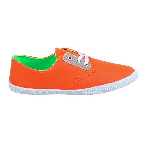 Ital-Design - Scarpe per il tempo libero Donna Arancione (arancione)