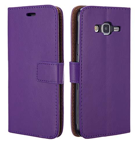 NWNK13 ® Samsung Galaxy J3 Étui livre/portefeuille/côté ouvert de haute qualité/emplacements pour cartes avec film d'écran & Stylet Tactile