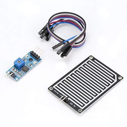 Comomingo Regensensor Regentropfen Wassererkennung Wetter-Feuchtemodul-Kit für Arduino (blau)