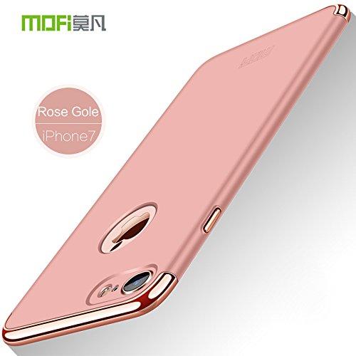 Meimeiwu Alta Qualità Ultra Sottile Leggera [Morbido tocco] Antiscivolo Duro PC Shell Slim Custodia Per iPhone 7 - Nero Rose Oro