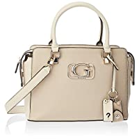 GUESS Women's Satchel Handbag, Taupe - VG758306