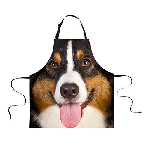 PETSOLA Funny Animal Printed Schürzen Für Männer Party Animal Backen Küchenchefs Geschenk - Hund