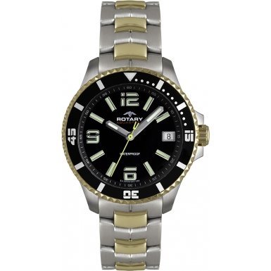 Gents-Rotary-Aquaspeed-Two-Tone-QuartzBatteryWatch-on-Bracelet-AGB00076W04