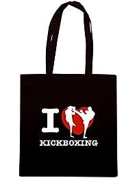 T-Shirtshock - Bolsa para la compra TAM0052 i love kick boxing dark tshirt
