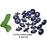 Lauris Cricket Blue Spikes With Key (Pack Of 22)