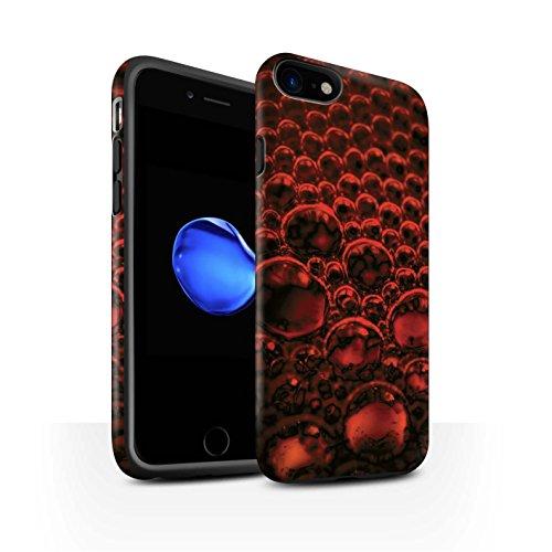 STUFF4 Matte Harten Stoßfest Hülle / Case für Apple iPhone 8 / Blau Muster / Blasen/Tröpfchen Kollektion Rot