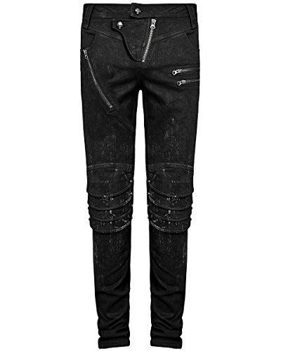 Preiswert Punk Rave Herren DieselPunk Jeans Hose Schwarz Gothic Punk ... 42eb007eda