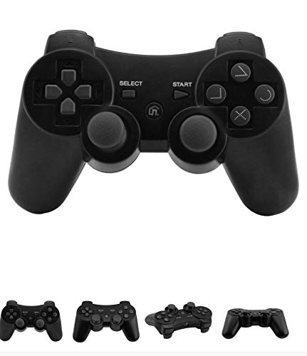Wireless PS3 Controller, Dual Vibration Sixaxis Gamepad Joystick für Sony PlayStation 3 dualshock 3 ...