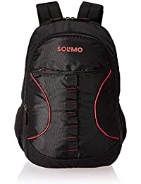 Amazon Brand - Solimo Urban Laptop Backpack for 15.6-inch Laptops (29 litres,Black)
