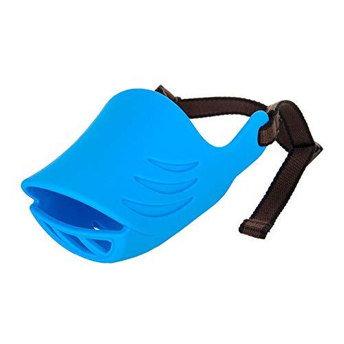NBRTT Mundform Hundeabdeckungen Anti Called Muzzle Masks Pet Set Biss Proof Silikon Material für kleine Hunde von Plastic Duckbill Duck Face Lip einstellbare Produkte,Blue