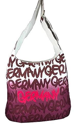 Robin Ruth Canvas Umhängetasche/Schultertasche Germany in weiß/lila (Maße: LxHxT 38x33x12 cm)
