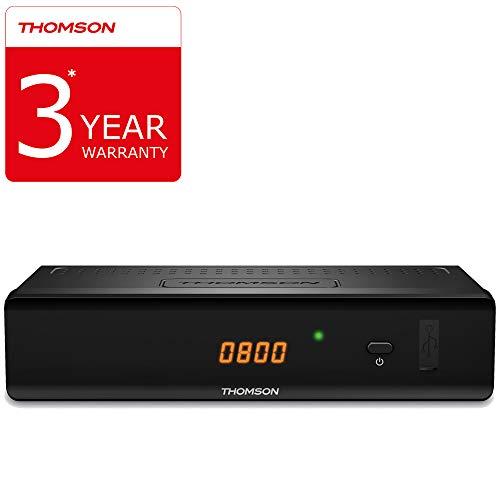 THOMSON THC301 HD Receiver für digitales Kabelfernsehen DVB-C Full HD mit 3 Jahre Garantie (HDTV, HDMI, SCART, USB, Mediaplayer) schwarz