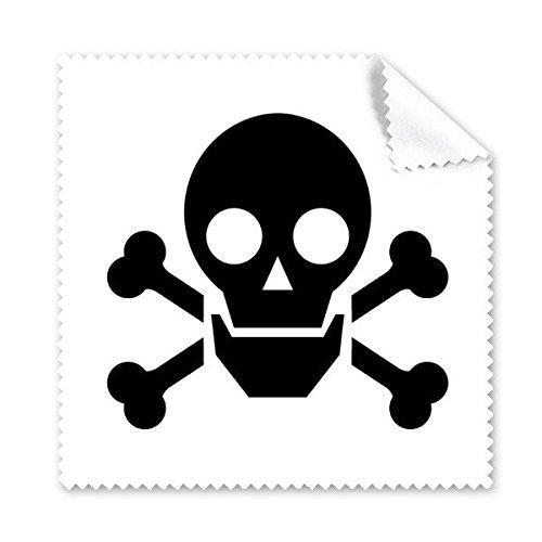 DIYthinker Schwarz Dangerous Chemical Radiation Schädlich Frightful Kreis Symbol Illustration Muster Brillenputztuch-Reinigungstuch Telefon Screen Cleaner 5pcs Schwarz