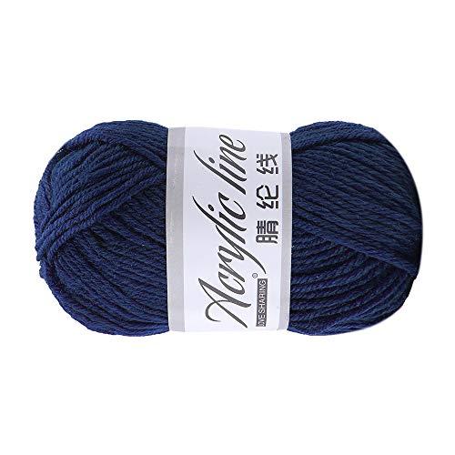 Wawer 12 Farben 50g Häkelgarn Acrylwolle Baumwolle Umherziehen Schal Handstrickgarn Wolle Garn Dicke warme Hut Haushalt für Häkeln und Kunsthandwerk (B) -