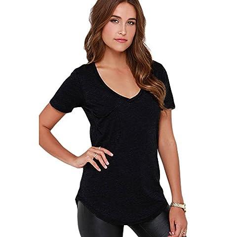 MEINICE - T-Shirt - Femme - Noir - XL