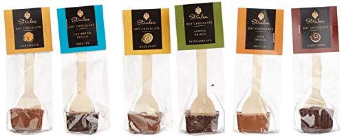 Trinkschokolade am Stiel Collection- Set von 6 Stück - Milch und Dunkle Kuvertüreschokolade -