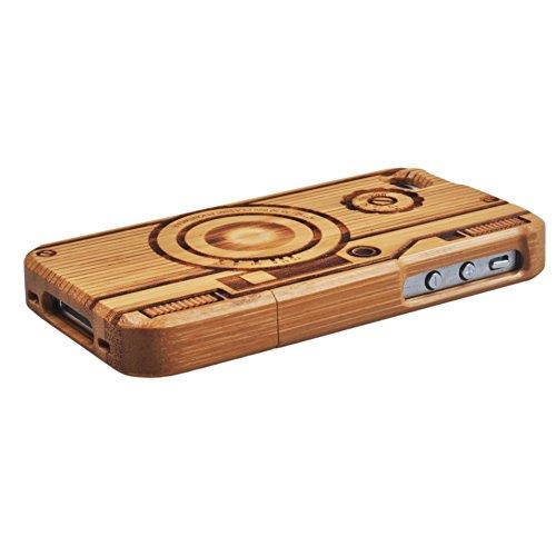 Voguecase® Apple iPhone 4 / 4S Bambus Harte Hybrid Hülle Schutzhülle Case Cover (Löwenzahn) + Gratis Universal Eingabestift Kamera