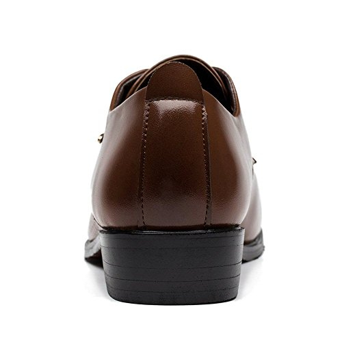 ALSYIQI Mens Classical Fashion Casual Oxford Business Shoes Dress Shoes 8876 Brown