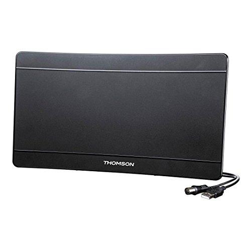 Thomson ANT1518BK-UHD Curved Zimmerantenne (DVB-T/DVB-T2, DAB/DAB+, für TV/Radio, digital, 4K Ultra HD, aktiv, Performance 45) Antenne (4k-hd-tv Curved)