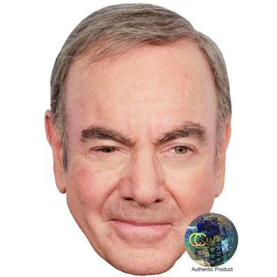 Celebrity Cutouts Neil Diamond Maske aus Karton