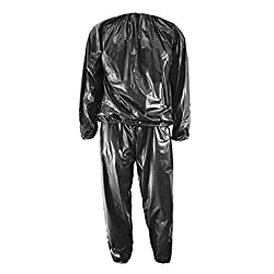 Generic Heavy Duty Gym Workout Fitness Sauna Sweat Suit Slimmer Slimmimg Weight Loss Anti-Rip XL - black