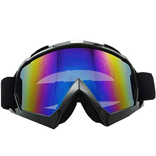 Mjia sunglasses Sportbrillen,Motorrad-Schutzbrillen im,Freien Cross-Country-Spiegel,Reitbrillen,Winddicht Bergsteigen Spiegel, schwarz