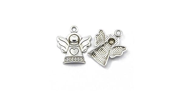 ZX14690 - Charming Beads Paket 20 x Antik Silber Tibetanische 21mm Charms Anh/änger Engel
