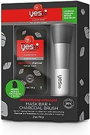 Yes to Tomatoes Detoxifying Charcoal Mask Bar & Charcoal Brush Set