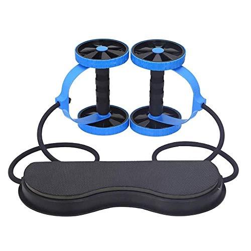 MMAXZ Bauchmuskeln Rad, Doppel AB Roller Rad Fitness Bauchmuskelübungen Ausrüstung Taille Abnehmen Trainer bei Home Gym (Color : B)