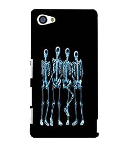 printtech Funny Xray Skeleton Back Case Cover for Sony Xperia Z5 Compact::Sony Xperia Z5 Mini