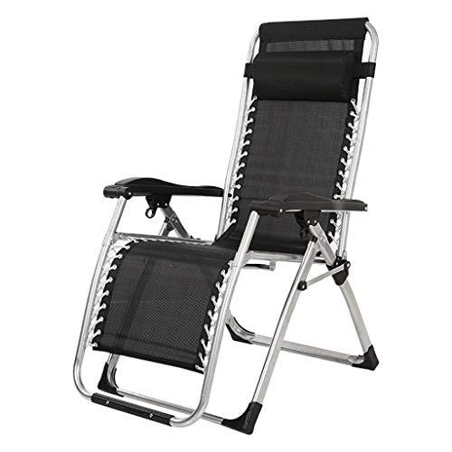 Gdfr5g5d Klappstühle im Freien Schwerkraft Sonnenliege, Garten Terrasse Sonnenliegen, Liege LiegestuhlSingle Büro Nickerchen Bett Mittagspause Stuhl faul Rückenlehne Stuhl (Color : L)