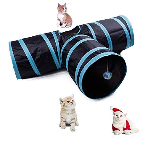 Cat Tunnel Toy, Collapsible Play...