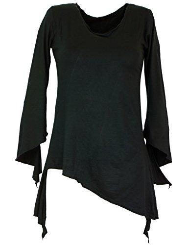 Psytrance Elfen Shirt Goa chic / Pullover, Longsleeves & Sweatshirts Schwarz