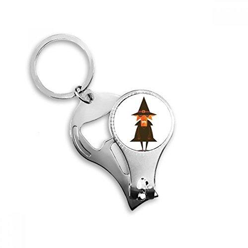 gst Halloween Geist Glücklich Metall Schlüsselanhänger Ring multifunktions Nagelknipser Flaschenöffner Auto Keychain Beste Charme Geschenk ()
