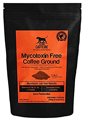 Bulletproof Coffee Ground 100g Travel / Trial / Gift Size | Pesticide & Mycotoxin Free Upgraded Coffee Beans Ground Lean Caffeine from Lean Caffeine