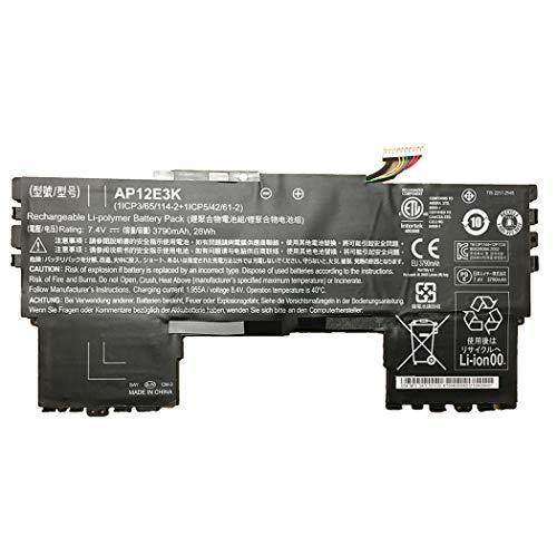 7XINbox 7,4 V 28Wh AP12E3K Batteria per portatile per Acer Aspire S7 191 Ultrabook 11 pollici 1 / CP3 / 65/114-2 + 1 / CP5 / 42/61-2