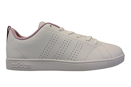 Adidas Vs Advantage Clean K, Scarpe da Ginnastica Unisex - Bambini, Bianco (Ftwbla/Ftwbla/Orqcla), 37 EU