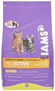 Iams Kitten Chicken Dry Cat Food 1 Kg Pack Of 4 from Procter & Gamble